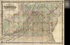 Maryland, West Virginia and Virginia Map By G.W.  & C.B. Colton