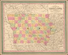 Iowa Map By Thomas, Cowperthwait & Co.
