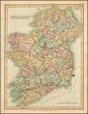 Ireland Map By Charles Smith