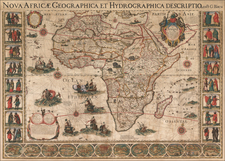 Africa Map By Alexis-Hubert Jaillot  &  Nicolas Berey