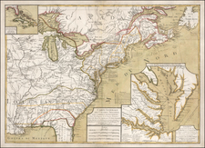 United States, Mid-Atlantic and Southeast Map By Rene Phelippeaux