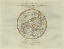 Northern Hemisphere Map By Weimar Geographische Institut