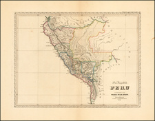 Chile, Brazil and Peru & Ecuador Map By Friedrich Wilhelm Spehr