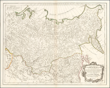 China, Central Asia & Caucasus and Russia in Asia Map By Paolo Santini