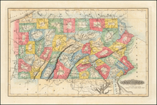 Pennsylvania Map By Fielding Lucas Jr.