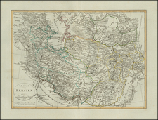 Central Asia & Caucasus and Persia Map By Weimar Geographische Institut