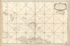 Hispaniola, Bahamas and Other Islands Map By Depot de la Marine