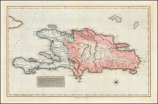 Hispaniola Map By Fielding Lucas Jr.