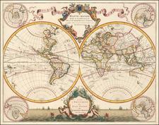 World Map By Johannes Covens  &  Cornelis Mortier