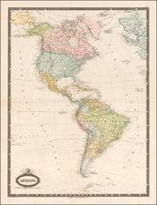 North America and South America Map By F.A. Garnier