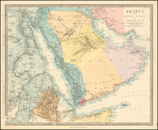 Middle East, Arabian Peninsula, Egypt and North Africa Map By SDUK
