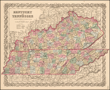 Kentucky and Tennessee By Joseph Hutchins Colton