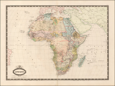 Africa Map By F.A. Garnier