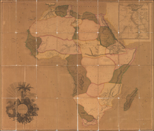 Africa and Africa Map By Aaron Arrowsmith  &  Henry Schenk Tanner