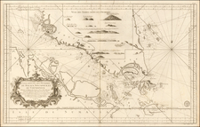 Singapore and Malaysia Map By Jacques Nicolas Bellin / Depot de la Marine