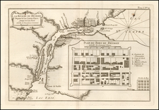 Michigan Map By Jacques Nicolas Bellin