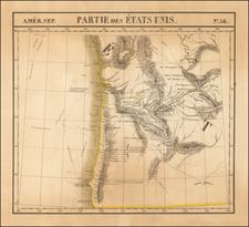 Pacific Northwest, Oregon and Washington Map By Philippe Marie Vandermaelen