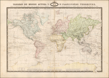 World Map By F.A. Garnier