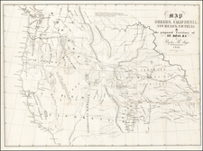 Texas, Plains, Nebraska, Southwest, Rocky Mountains, Oregon, Washington and California Map By Rufus Sage
