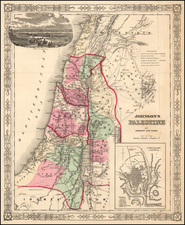 Asia and Holy Land Map By Alvin Jewett Johnson