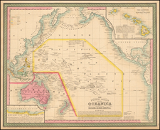 Australia & Oceania, Pacific, Oceania and Other Pacific Islands Map By Thomas Cowperthwait & Co.