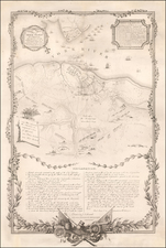 Virginia and American Revolution Map By Henry Schenk Tanner / Sebastian Bauman / J.F. Renault