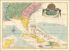 Florida, South, Southeast, Georgia, North Carolina and South Carolina Map By Mark Catesby