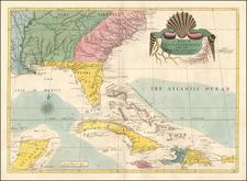 Florida, South, Southeast, Georgia, North Carolina and South Carolina Map By Mark Catesby