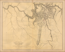 West Virginia and Civil War Map By U.S. Army Corps of Topographical Engineer