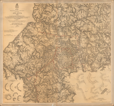 Georgia and Civil War Map By U.S. War Department