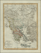 Greece Map By Weimar Geographische Institut