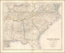 South and Southeast Map By Archibald Fullarton & Co.