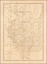 Illinois and Iowa Map By David Hugh Burr