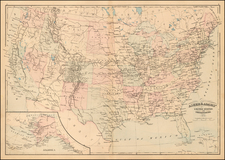 Asher & Adams' United States and its Territories By Asher  &  Adams