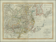 China and Korea Map By Weimar Geographische Institut