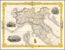 Italy Map By John Tallis
