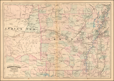South, Arkansas and Plains Map By Asher / Adams
