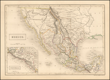 Texas, Southwest, Rocky Mountains, Mexico and California Map By Adam & Charles Black