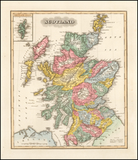 Scotland Map By Fielding Lucas Jr.