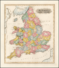 England and Wales Map By Fielding Lucas Jr.