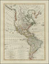 America Map By Weimar Geographische Institut