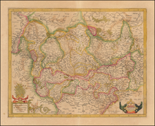 Germany Map By Henricus Hondius /  Gerard Mercator