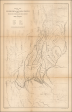 Southwest, Arizona and Utah Map By Clarence E. Dutton