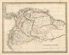 South America Map By Thomas Gamaliel Bradford