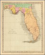 Florida Map By David Hugh Burr