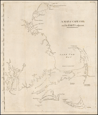 A Map of Cape Cod and the Parts adjacent. (Martha's Vineyard and Nantucket Island) By Isaiah Thomas  &  Ebenezer T. Andrews