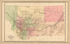 Montana Map By H.R. Page
