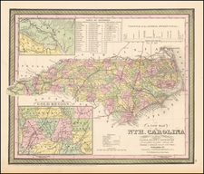 Southeast and North Carolina Map By Thomas, Cowperthwait & Co.