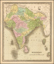 India & Sri Lanka Map By Jeremiah Greenleaf