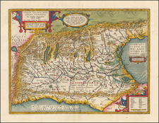 Switzerland, Austria and Northern Italy Map By Abraham Ortelius